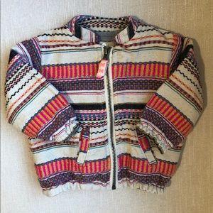 Peek kids Mexico stripe bomber jacket